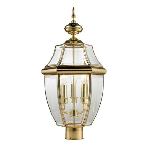 Elk Lighting 8603EP/85 Ashford  Post Lantern, Large, Antique Brass (Brass Outdoor Post Mount)
