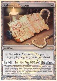 Magic: the Gathering - Ashnods Coupon - Arena Unhinged - Arena -