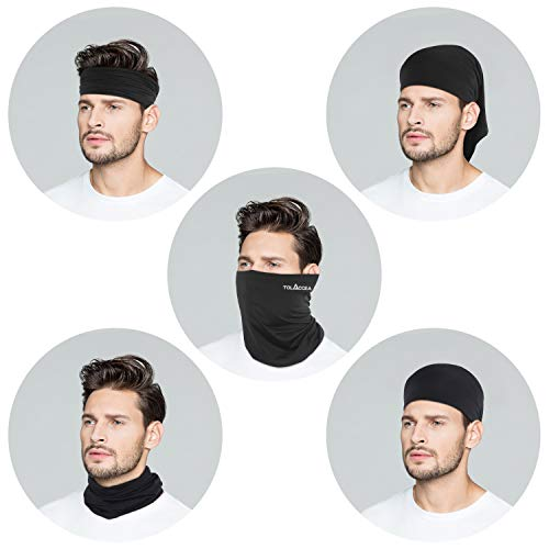 4PCS Neck Gaiter Bandana Face Scarf Balaclava Face Cover Windproof Dust Sun UV Protection Headwear Face Scarf for Women Men Outdoor Cycling Running Hiking