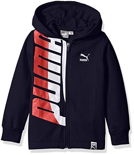 PUMA Little Boys' Full-Zip Fleece Hoodie, Peacoat, ()