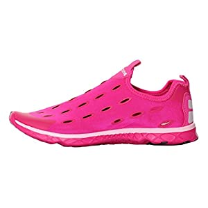 UJoowalk Womens Mens Best Comfort Quick Drying Aqua Driving Walking Ladies Mesh Beach Water Shoes (7 B(M) US, Rose Red)