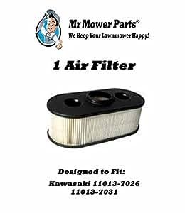 Mr Mower Parts Air Filter for Kawasaki 11013-7026 and 11013-7031. Fits models FH381V-S20 thru FH381V-S28 and FH280V-24 thru FH430V-S21