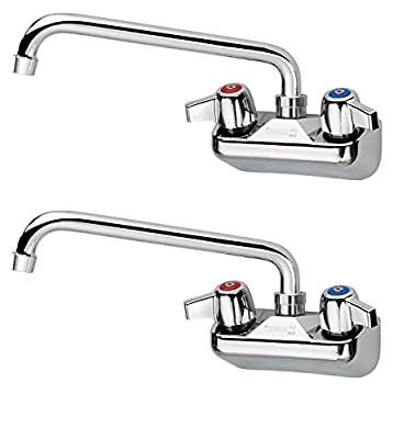 "Krowne Silver Series 4"" Center Wall Mount Faucet, 10"" Spout, 10-410L"
