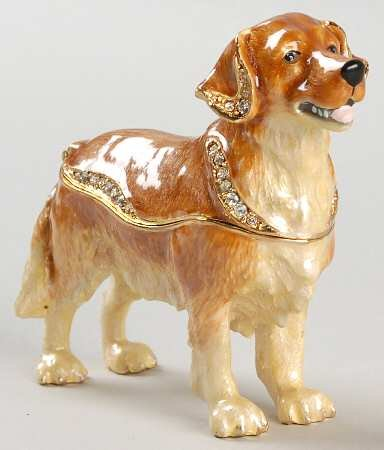 Bejeweled Collection Department 56 Golden Retriever Jeweled - 56 Bejeweled Department