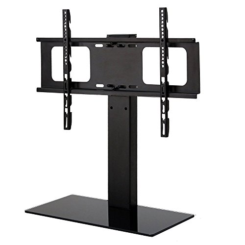 1HOMEFURNIT Tabletop Pedestal Bracket TV Stand LCD/LED TV 32 37 39 40 42 46 47 48 50 51 55 60 Inch Swivel Height Adjustable TV Desk Stand (Widescreen Tv Stands)