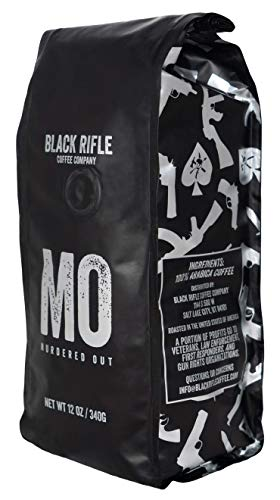 Black Rifle Coffee Company Murdered Out Coffee Dark Roast Ground, 12 Ounce Bag