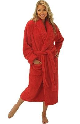 Del Rossa Women's Fleece Robe, Plush Microfiber Bathrobe