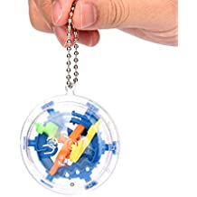 3D Maze Intellect Puzzle Toy, SANNYSIS Mini Ball Balance Barrier Magic Labyrinth (30 Barriers)
