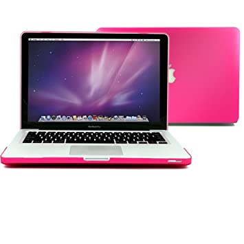 Funda para Macbook Pro 13, GMYLE Carcasa Rosa Rojo (No Aptos Para Macbook Pro Retina 13)