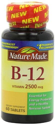 Nature Made Vitamin B-12 Tablets, 2500 mg, 60 Count