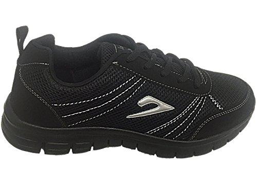 con Da Silver lacci nbsp;Galop comfort sport Black donna scarpe 816109 leggero casual waPITa