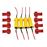 AUTOUS90 4 X 50W 6Ohm LED Load Resistors for LED Turn Signal Lights or LED License Plate Lights (Fix Hyper Flash, Warning Cancellor)