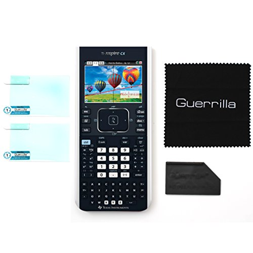 Guerrilla Military Grade Screen Protector 2-Pack For TI Nspire CX & CX CAS Graphing Calculator by Guerrilla