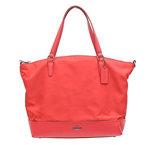 COACH NYLON SATCHEL PURSE F57902 (True Red) by Coach