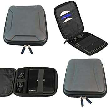 Negro EVA viaje dura cubierta de la caja de la manga para USB externa de DVD