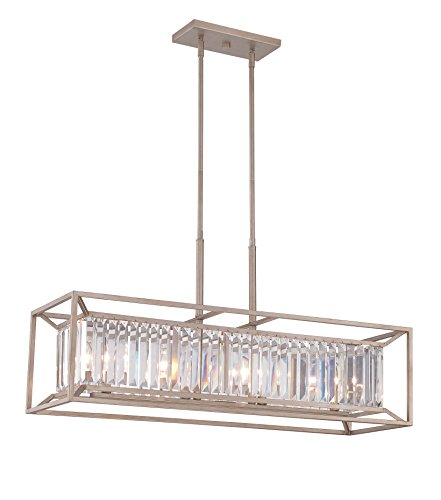 Designers Fountain Contemporary Chandelier - Designers Fountain 87438-AP Linares 4 Light Linear Chandelier
