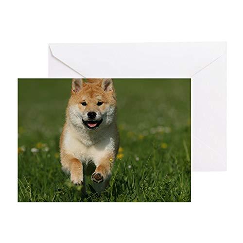 CafePress Cal_Shiba_Jan Greeting Card, Note Card, Birthday Card, Blank Inside Matte ()