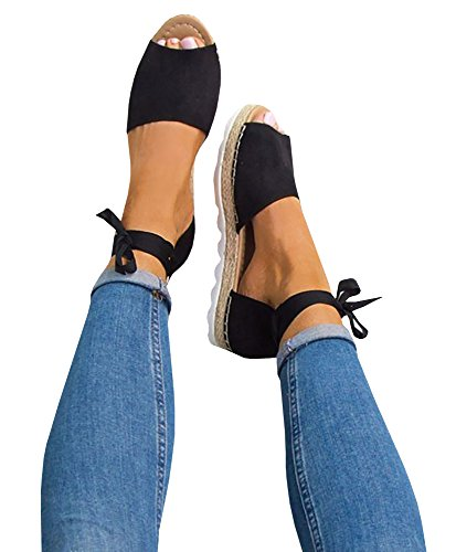 GAMISOTE+Womens+Fashion+Style+Flip-flop+Sandals+Flat+Womens+Sandals+Bandage+Sandals