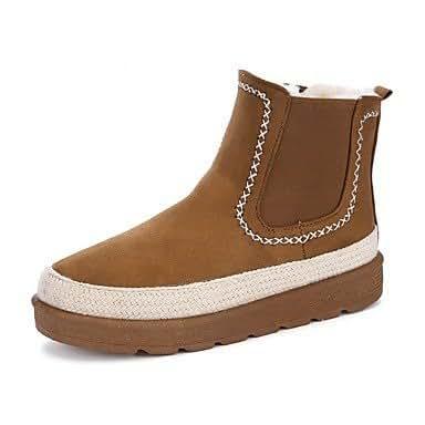Amazon.com | ZHENG Women039;s Shoes Suede Winter Fluff