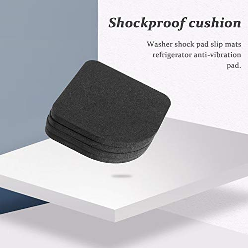 Surobayuusaku 4 pcs Washer Shock Slip Mats Reducing Refrigerator Anti-Vibration Noise Pad Washing Machine Shock Proof Mat