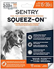 Sentry Flea, Tick & Mosquito Control for Dogs Weighing 15 kg-30 kg, 3 Tubes