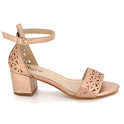 Block Half Size Wedding Scarpe toe Ladies Sandali Walk Heel Evening Champagne Open Party 8RxOH