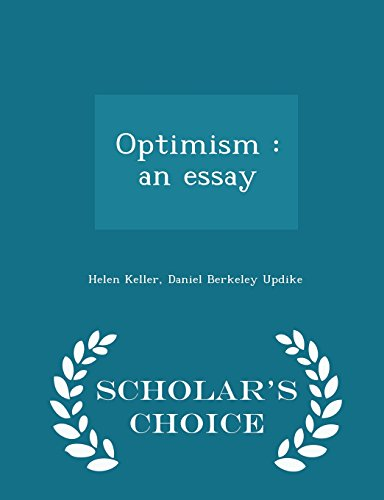 Optimism: an essay  - Scholar's Choice Edition