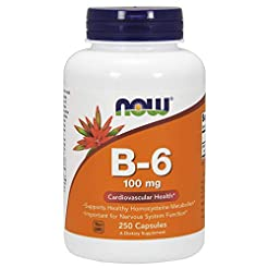 NOW Supplements, Vitamin B-6 100 mg, 250...