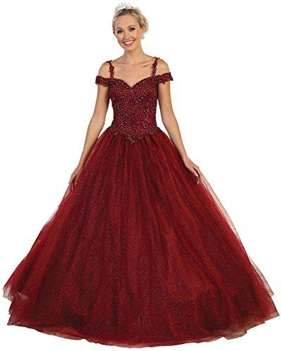 b2b31f9419e Layla K by Formal Dress Shops LK101 Sweet 16 Formal Quinceanera Gown  (Burgundy
