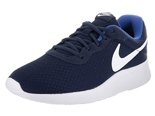 - Nike Mens Tanjun Running Sneaker Midnight Navy/White-Game Royal 8