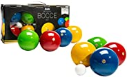 Franklin Sports 90mm Bocce Ball Set — 8 Wooden Bocce Balls and 1 Pallino — Beach, Backyard Lawn or Outdoor Par