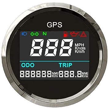 Velocímetro digital universal GPS medidor de trípode ajustable odómetro para barco, yate, motocicleta, coche, 5 pulgadas, 12 V 24 V: Amazon.es: Coche y moto