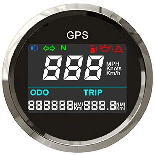 ELING Digital GPS Speedometer Adjustable Odometer Trip Meter For Boat Yacht Motorcycle Car 2 inches(52mm)