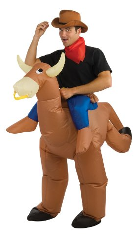 [Rubie's Costume Inflatable Bull Rider, Multicolored, One Size] (Inflatable Bull Rider Halloween Costume)
