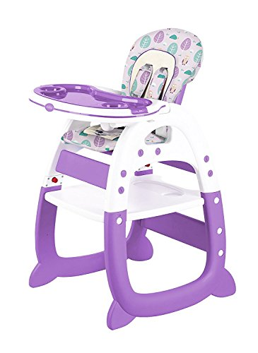 Evezo Rose2 Baby High Chair and Table 2-in-1 Convertible 2in 1 Convertible High Chair