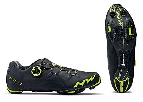 Northwave Ghost XC bicicleta de montaña guantes negro/amarillo 2018