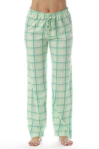 Ladies Plaid Pajama Green Pants (Just Love Women Plaid Pajama Pants Sleepwear 6324-MNT-10281-XS)