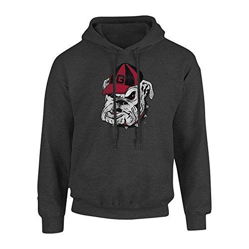 Elite Fan Shop Georgia Bulldogs Hooded Sweatshirt Vintage Icon Charcoal - M - Georgia Bulldogs Hoodie Sweatshirt