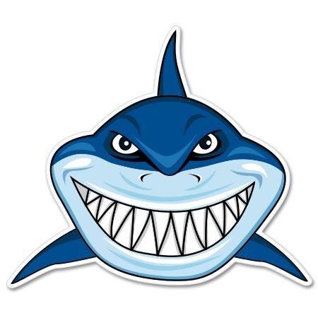 (Shark Teeth Vinyl Sticker - Car Window Bumper Laptop - SELECT SIZE)