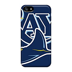 Iphone 5/5s VXg19820uPfu Customized Colorful Tampa Bay Rays Pattern Great Cell-phone Hard Cover -InesWeldon