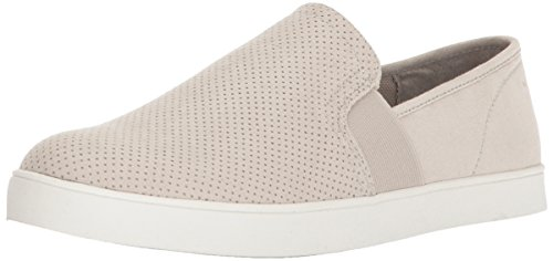 Slip On Shoes Women - Dr. Scholl's Shoes Women's Luna Sneaker, Greige Microfiber Perforated, 9 M US