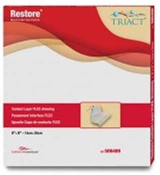 "Hollister Restore Contact Layer Flex Non-Adherent Dressing - 506487BX - 2"" x 2"", 10 Each / Box"