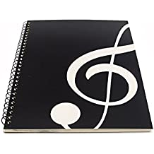 Blank Sheet Music Composition Manuscript Staff Paper Art Music Notebook Black 50 Pages 26x19cm (Black Music)
