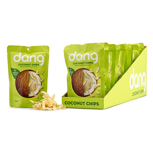 (Dang Gluten Free Toasted Coconut Chips, Original, 1.43oz Bags, 12 Count Bundle)