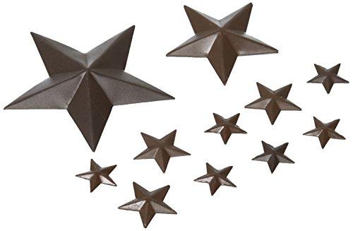 Darice GFC-333ASST Stars 2D Mini Rustic Tin Pkg 14 Assorted