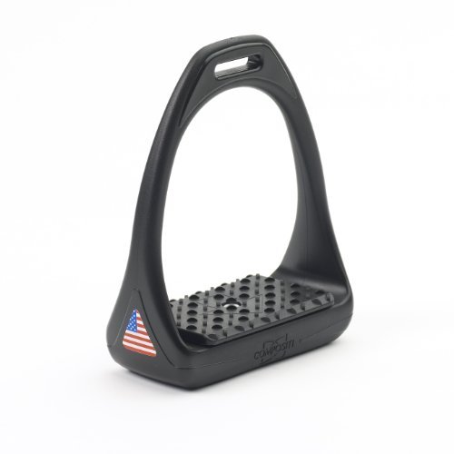 Compositi USA Reflex 3D Swivel Action Wide Track Stirrups Size:4 3/4″ (pair) Black