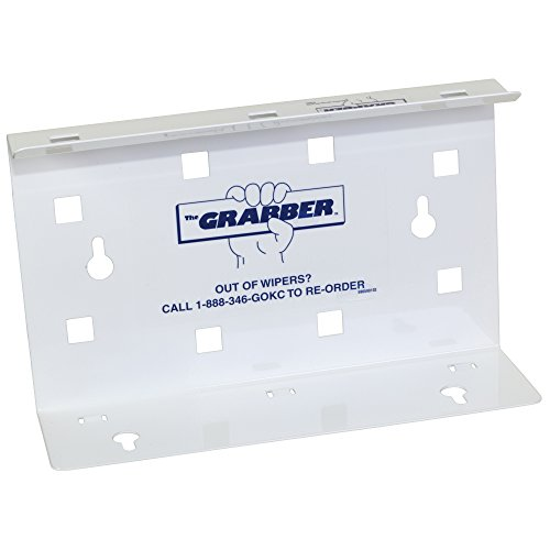 "Wipers White Box (The Grabber Wiper Dispenser for Wypall Wipes (09352), Space-Saving, For Pop-Up Boxes, 9.4"" x 2.8"" x 5.9"", White, 12 Dispensers / Case)"