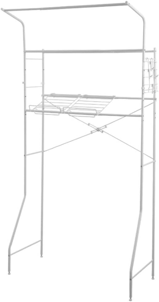 LYKH Estante de baño El tamaño se Puede Ajustar libremente Estante de Almacenamiento de baño Estante de Almacenamiento doméstico Marco de Lavadora de balcón 46 * 68 * 186 cm-46 * 68 * 186cm