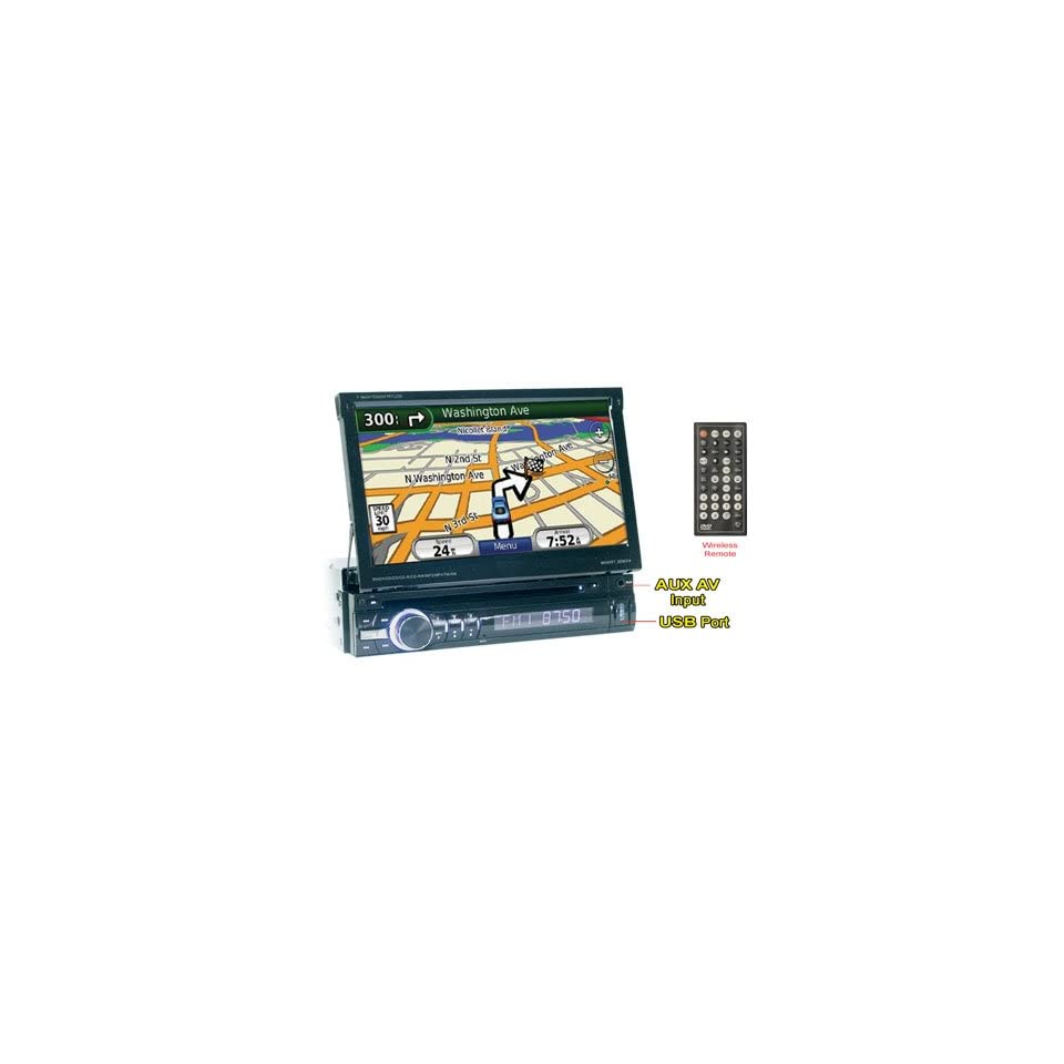 Performance Teknique Icbm gtv 7 One DIN Digital TFT Touch Screen, Dvd/cd//mp4 Player, Am/fm MPX Radio, Built in GPS (Usa, Canada & Mexico), USB Port, Sd Card Interface, Aux, Car Steering Control, Dual Zone, Cc Led, Tv Tuner (For Mexico), Fully Motorize
