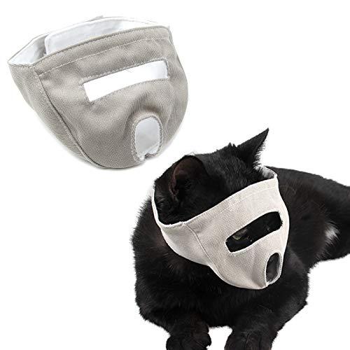 Alfie Pet - Remy Adjustable Muzzle for Cat or Short Snout Dog - Color: Beige, Size: Small